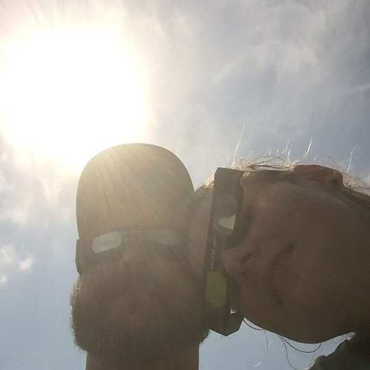 Jake the Carpet Guy and Michelle the Cleaning Lady enjoying the eclipse | RCS Cleaning of Union, MO